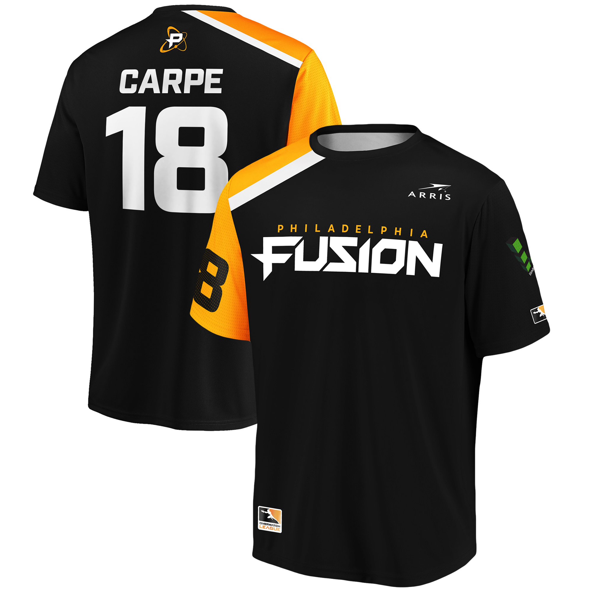 carpe Philadelphia Fusion Overwatch League Replica Home Jersey - Black