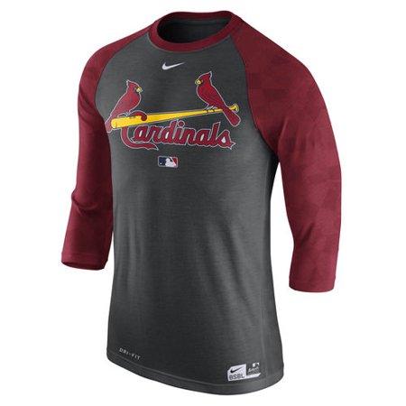 5c6855bd991 Men s Nike Charcoal St. Louis Cardinals Authentic Collection Legend ...