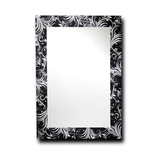 Leick Furniture Feather Leaf Silhouette Decorative Wall Mirror - 18 x 24 in.