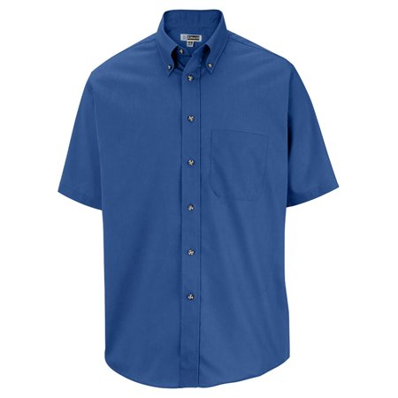 Men's Big And Tall Button Down Poplin Shirt, FRENCH BLUE, XLT