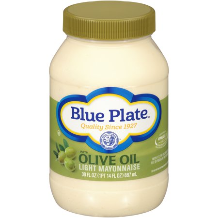 (2 Pack) Blue Plate Light Mayonnaise With Olive Oil, 30.0 FL OZ