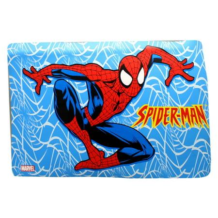 Crazy Webs Spider-Man Light Blue Background Kids Dinner Placemat (Light Blue Placemats)