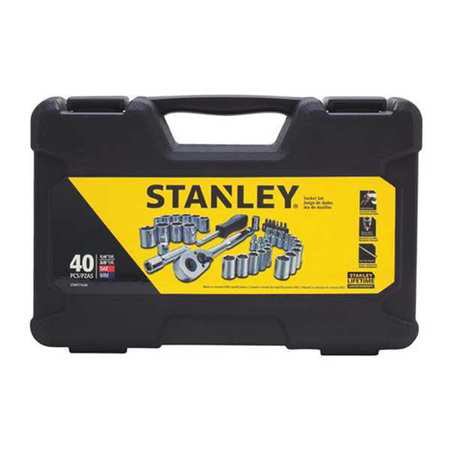 STANLEY 40-Piece Mechanics Tool Set, Chrome | STMT71648 by Stanley Black & Decker