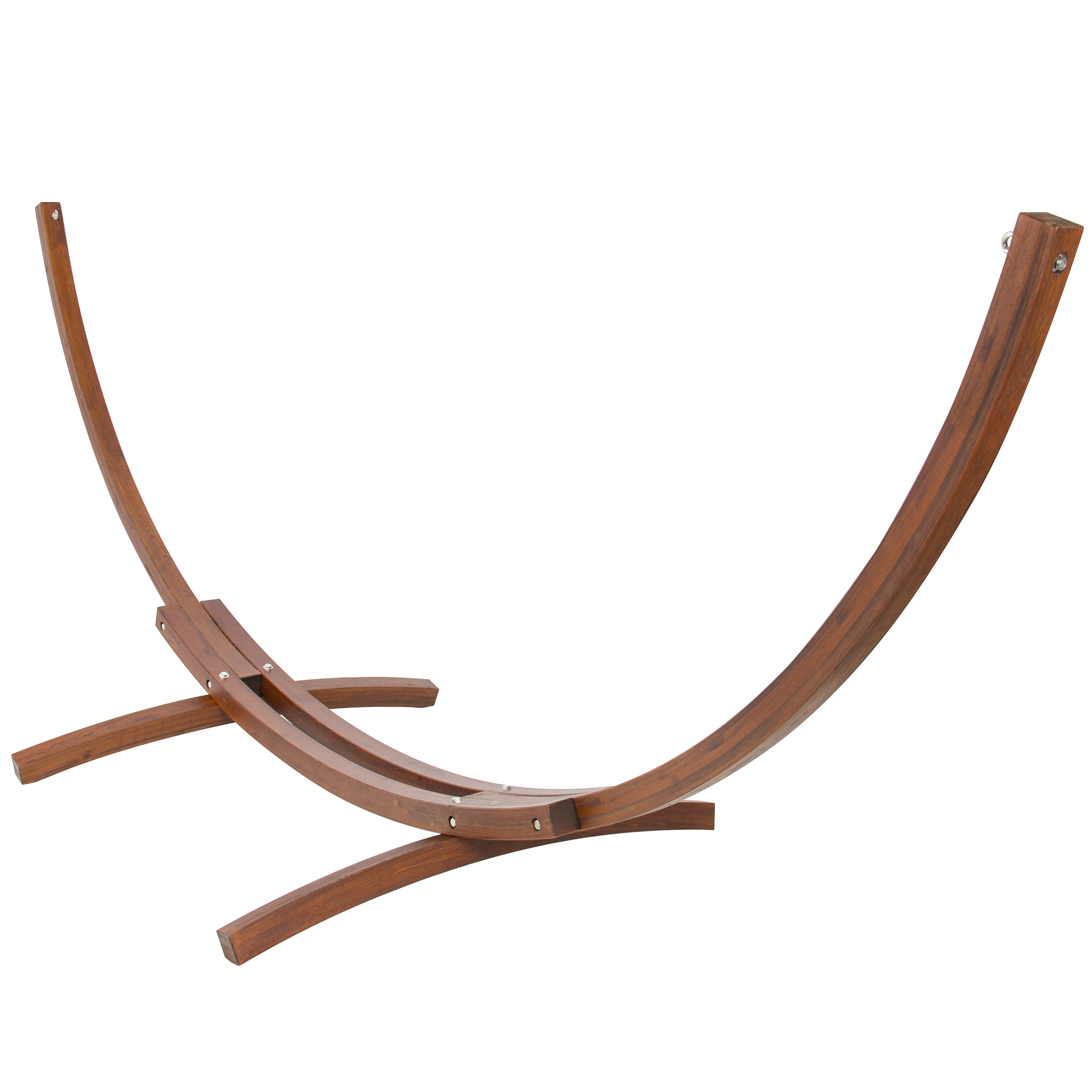 vivere natural wood hammock stand at lowes
