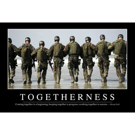 Togetherness   Inspirational Quote And Motivational Poster It Reads Coming Together Is A Beginning Keeping Together Is Progress Working Together Is Success   Henry Ford Poster Print