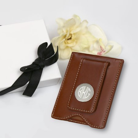 Personalized Monogram Leather Money Clip Gift Boxed (Personalized Money Clips)