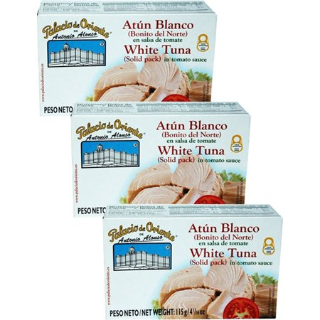 Palacio de Oriente bonito del norte Atun (White Tuna) in Tomato Sauce 4 oz Pack of (Bonito Del Norte Tuna)