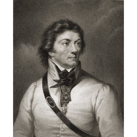 Tadeusz Or Thaddeus Kosciuszko 1746-1817 Polish Army Officer And Statesman From The Book Gallery Of Portraits Published London 1833 PosterPrint