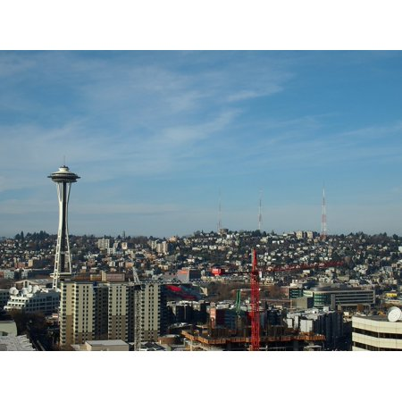 Seattle Radio Halloween Music (Canvas Print Space Needle City Seattle Tv Tower Towers Radio Stretched Canvas 10 x)