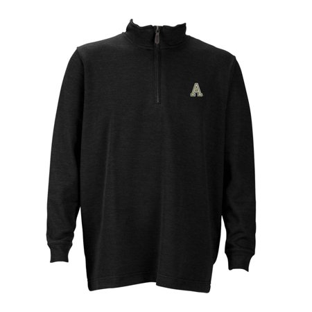 Army Mens 1 4 Zip Flat Back Rib Pullover  Color  Black