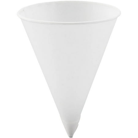 Bare by Solo Cup Company 4.25 Oz Paper Cone Water Cups, White, (Pack of 5000) (Paper Cones)
