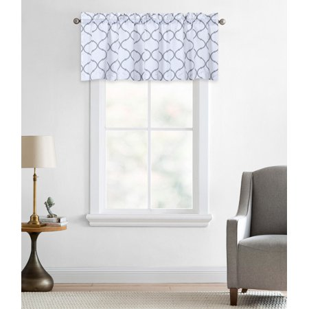 - Regal Home Collections Oversized Shabby Lattice Trellis Rod Pocket Window Valances - Gray