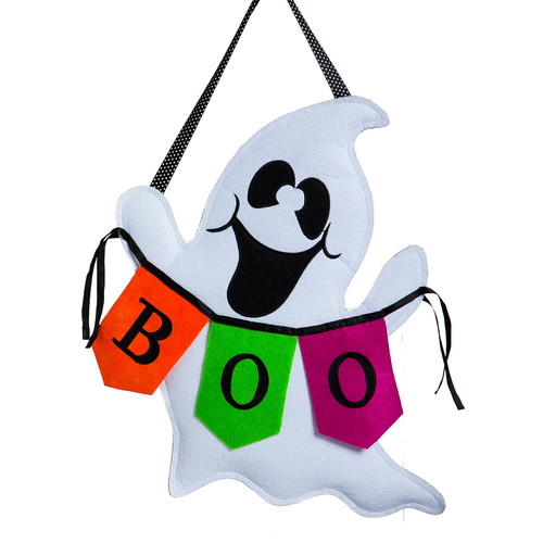 The Holiday Aisle Boo Ghost Burlap Door Decoration