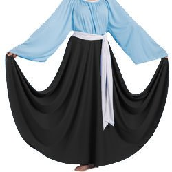 Body Wrappers 501 / 501XX Womens Praise Dance Circle Skirt (Small, Black) Body Wrappers Dance Clothes
