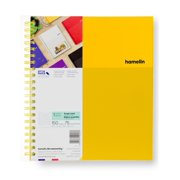 "1 Subject Graph Ruled (4 Square Per IN) 8.5x11"" Notebook SUNSHINE Yellow"