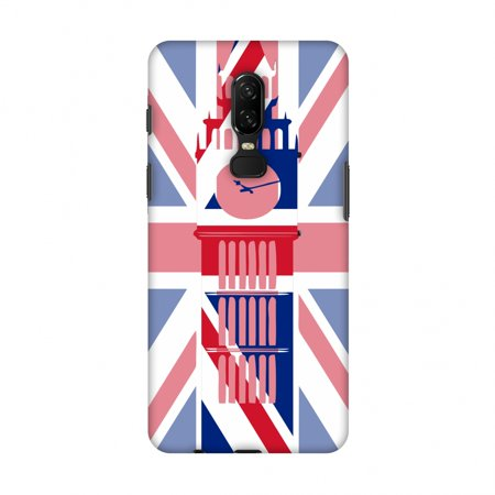 OnePlus 6 Case - Big Ben- UK flag, Hard Plastic Back Cover, Slim Profile Cute Printed Designer Snap on Case with Screen Cleaning (Designer Sale Online Uk)