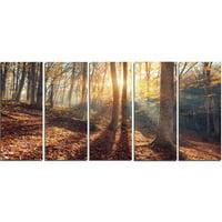 Design Art Crimean Mountains Autumn 5 Piece Photographic Print on Wrapped Canvas Set