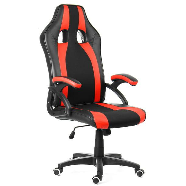 Office Desk Chairs Ergonomic Swivel Leather High Back Computer Gaming Chair Racing Style Walmart Com Walmart Com