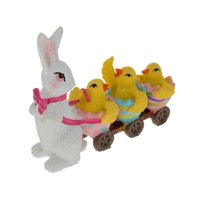 BestPysanky Bunny Pulling 3 Chic's Easter Figurine 4 Inches