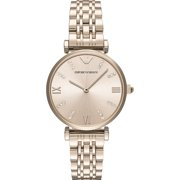 Emporio Armani Women's Gianni T-Bar Retro Crystal Stainless Steel Watch