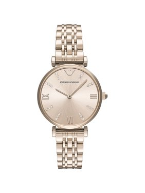 Emporio Armani Women's Gianni T-Bar Retro Crystal Stainless Steel Watch