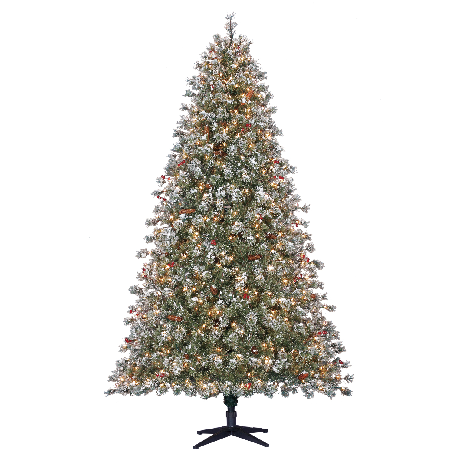 Holiday Time Pre-Lit 7.5\' Covington Fir Artificial Christmas Tree ...