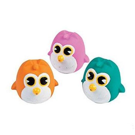 12 owl squirters - squeeze owl toy water squirters