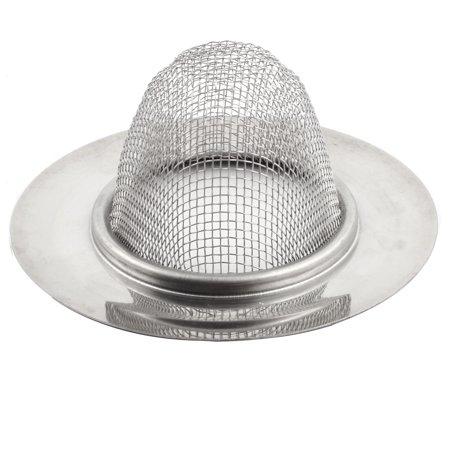 Unique Bargains 9cm Dia Home Kitchen Stainless Steel Round Basket Sink Strainer Mesh - image 2 de 3
