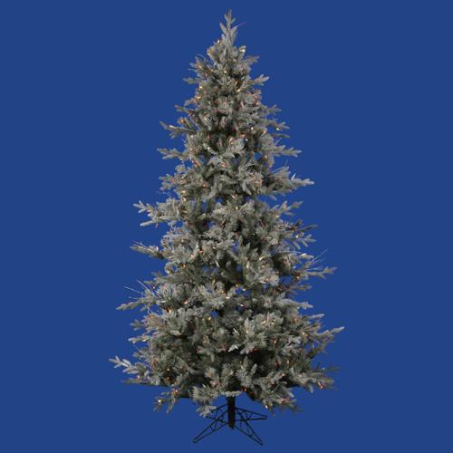 9' Pre-Lit Medium Frosted Wistler Fir Artificial Christmas Tree - Multi-Color Dura Lights
