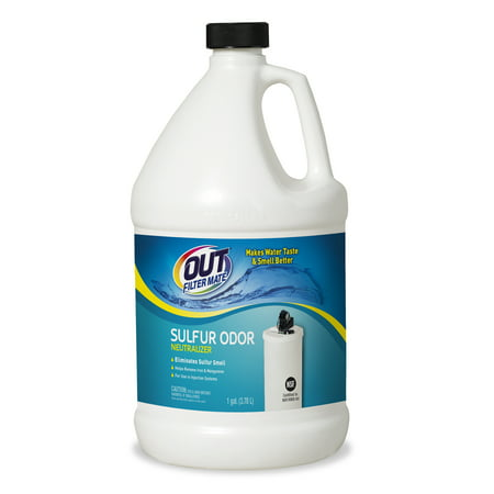 OUT Filter Mate Sulfur Odor Neutralizer, 1 Gallon Bottle (Pack of 4)