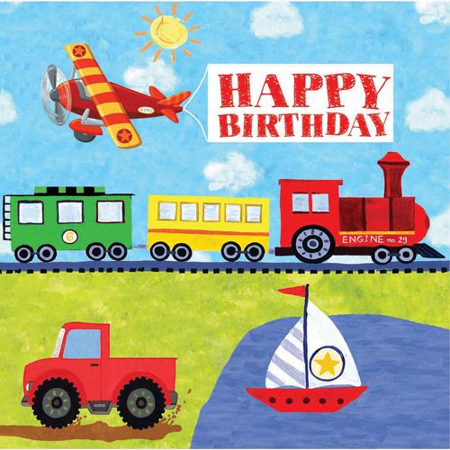 "Creative Converting On The Go ""Happy Birthday"" Napkins, 16pk"