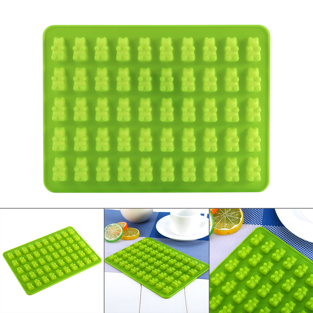 50 Cavities Chocolate Ice DIY Craft Tray Gummy Bear Silicone Maker Mould Candy Mold