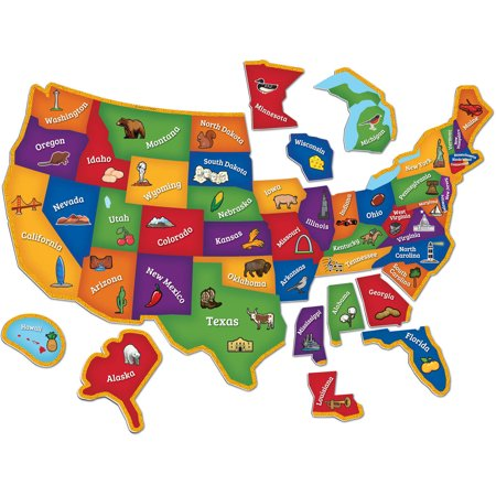 Learning Resources Magnetic US Map Puzzle Walmartcom - Us map walmart