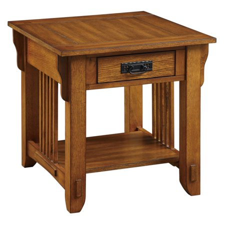 Coaster Company Traditional Mission Style End Table Warm Brown