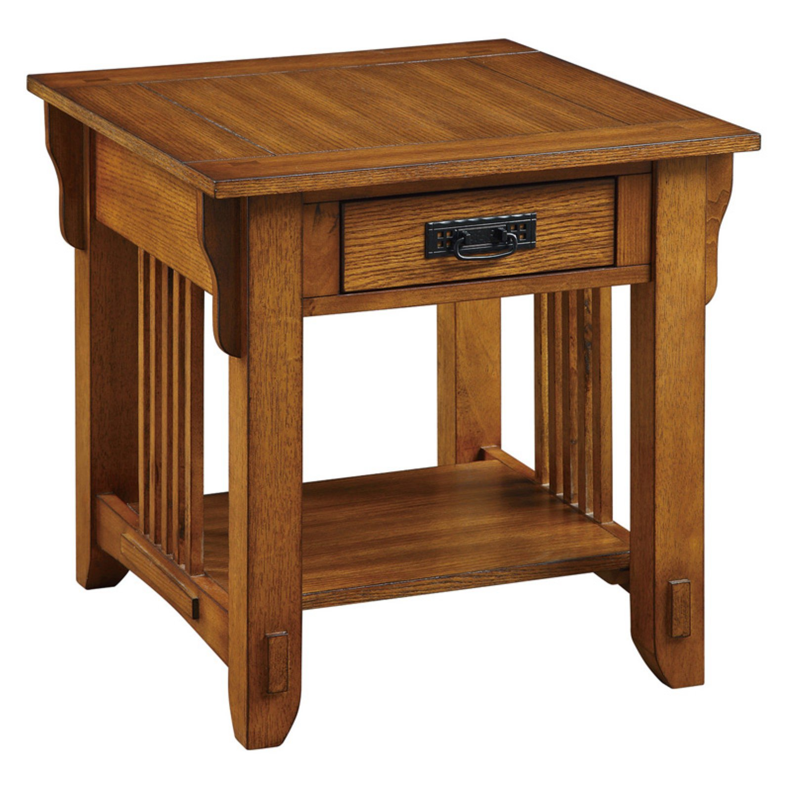 Coaster Company Traditional Mission Style End Table, Warm Brown