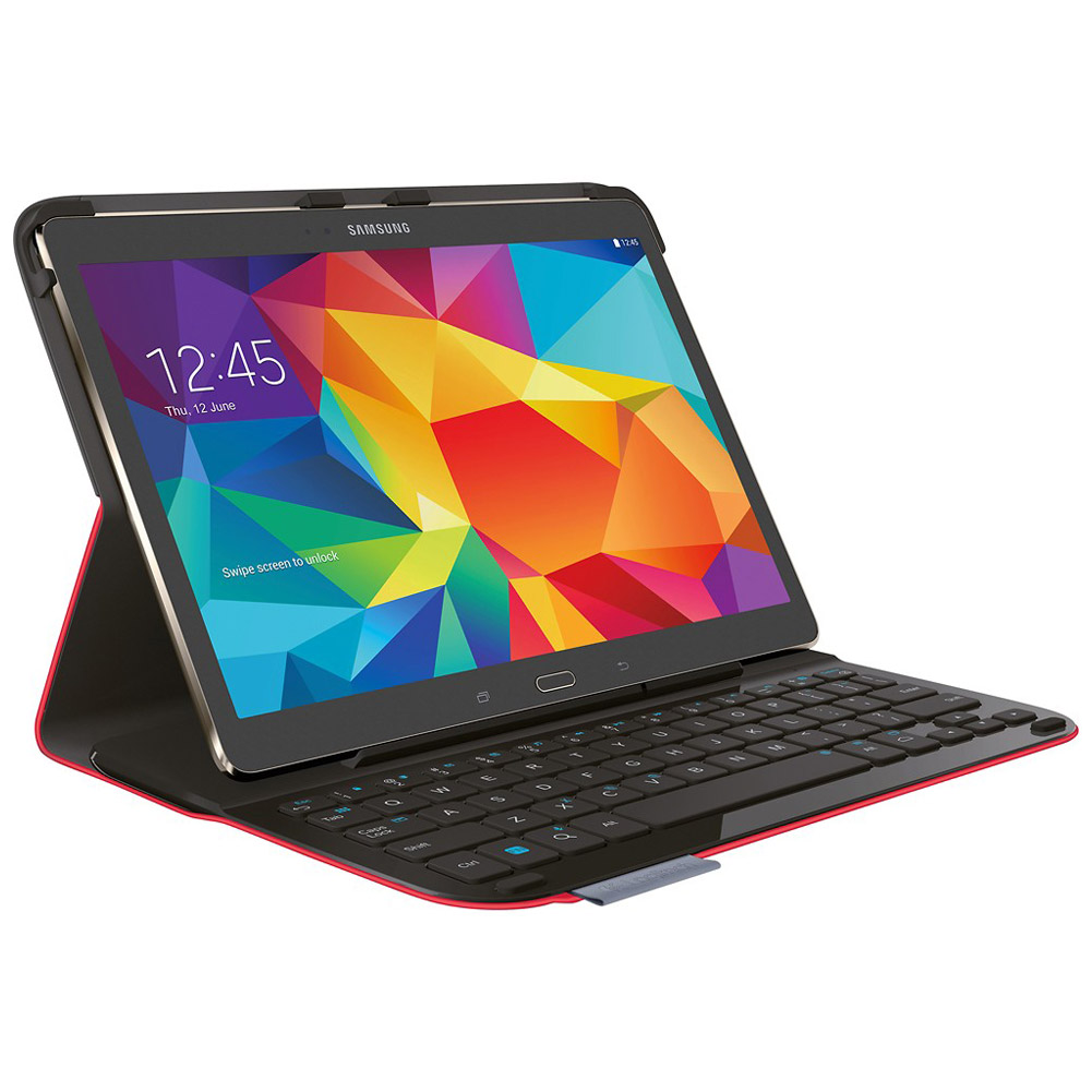 Logitech Type S Folio Keyboard Case For Samsung Galaxy Tab S 10.5 - Red