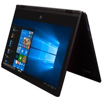 """EVOO 11.6"""" Convertible Touchscreen Laptop, FHD, Dual Core, 32GB Storage, 4GB Memory, Mini HDMI, Front Camera, Windows 10 Home, Includes Office 365 Personal for One Year"""