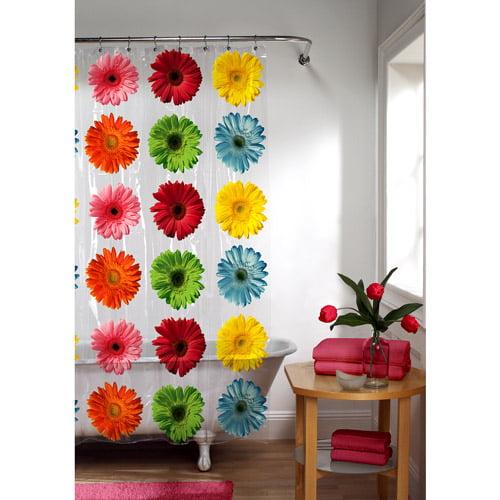 Gerber Daisy PEVA Shower Curtain, Floral by Maytex Mills Inc