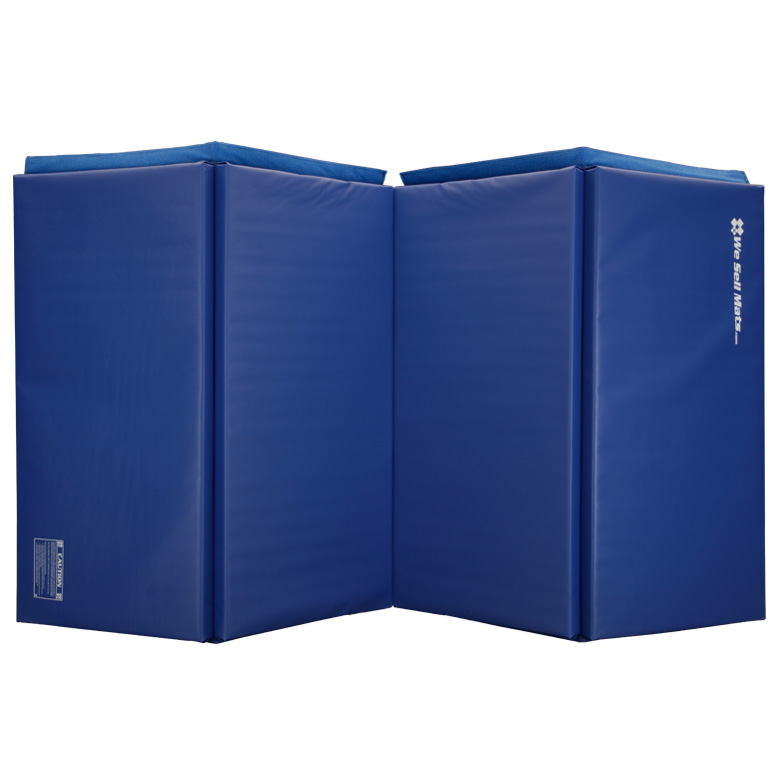 We Sell Mats 4' x 8' Folding Gymnastics Tumbling Mat, Black, 2.0-inch