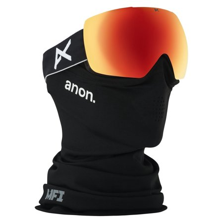 Anon Goggle Lenses - Anon Mig Goggle, Bear Frame Sonar Black Frame Sonar Red Lens Mig Asian Fit Goggle With Mfi Mask One Size