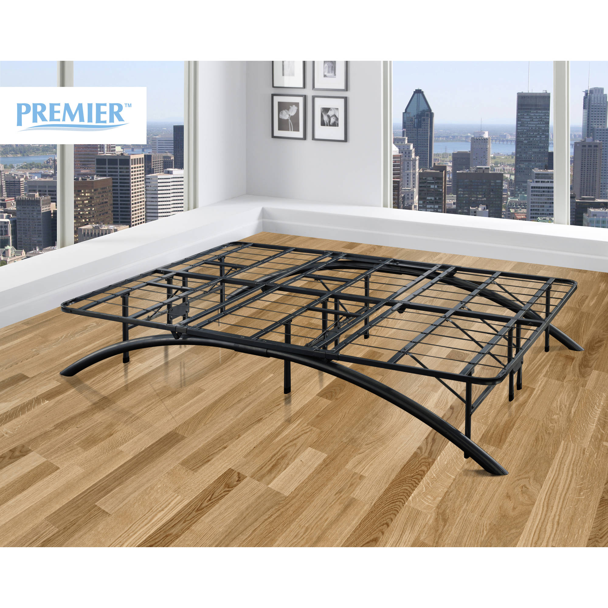 premier ellipse arch platform bed frame black multiple sizes walmartcom - Modern Metal Bed Frame