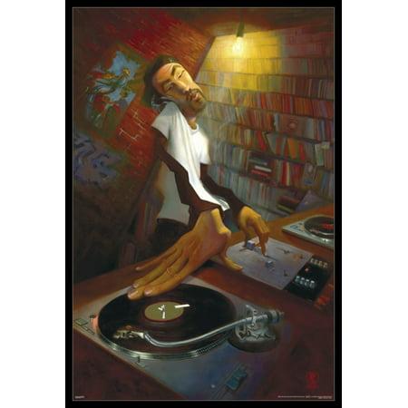 Halloween Dj Poster (Justin Bua - The DJ Poster Poster)