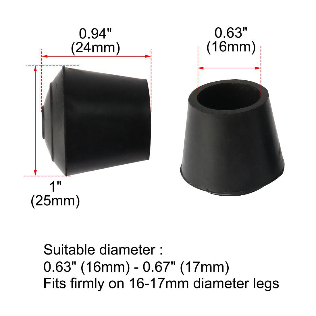 "Rubber Leg Cap Tip Cup Feet Cover 16mm 5/8"" Inner Dia 15pcs for Furniture Table - image 2 de 7"