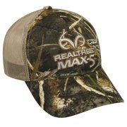 Realtree Mesh Back Cap, Realtree Max-5 Camo, Adjustable Closure