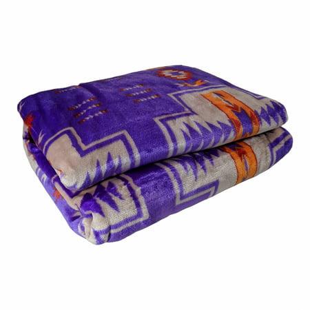 - Reversible Blanket Adventure Wilderness Ultra Fleece Cozy Throw Camp Bedding
