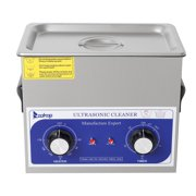 Ktaxon 3L Knob Control Ultrasonic Cleaner,Professional Sonic Cleaner w/Mechanical Timer Heater, Stainless Steel Low Noise