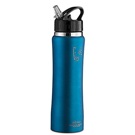 Swig Savvy S Stainless Steel Insulated Blue Water Bottle