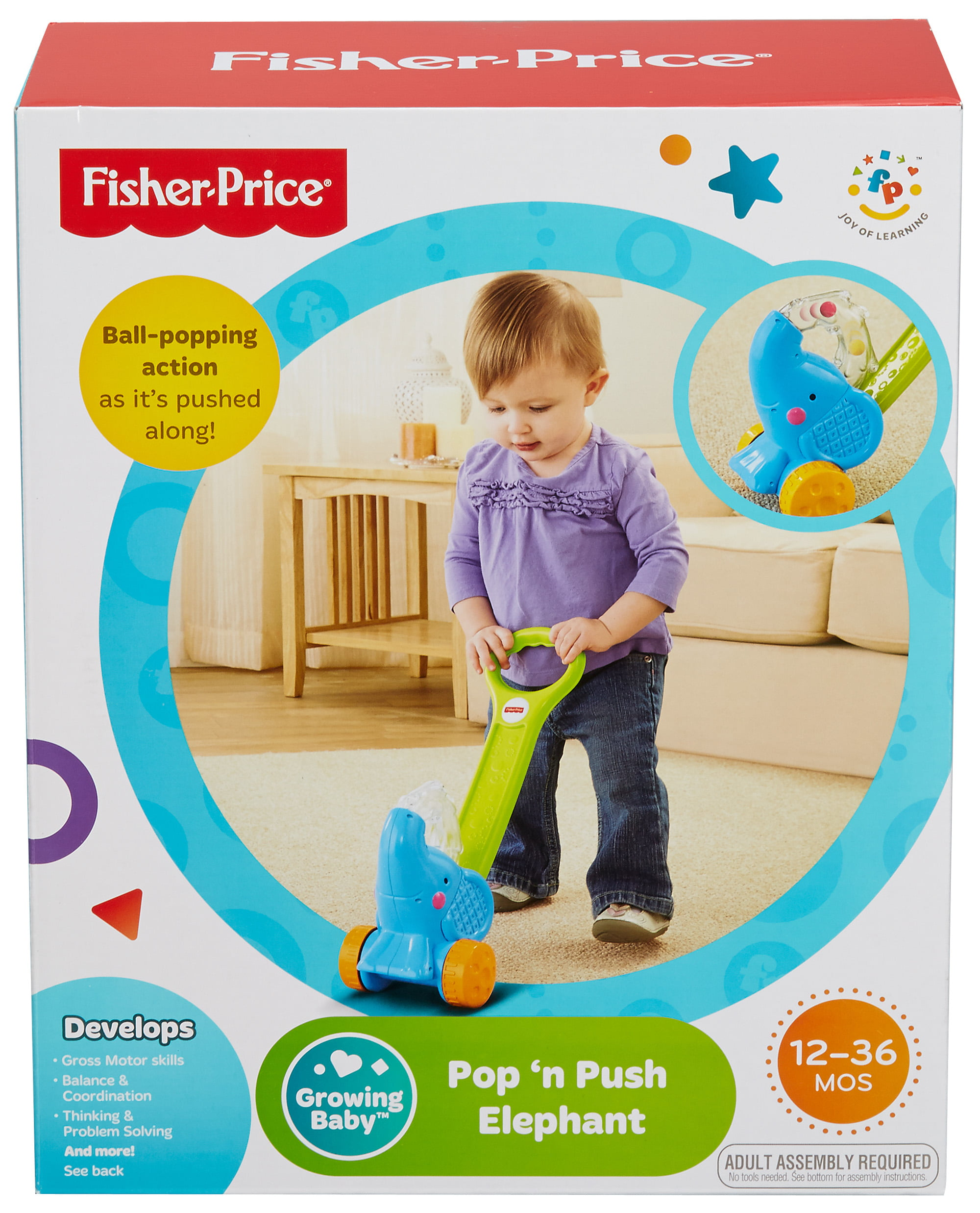 Fisher Price Growing Baby Pop n Push Elephant Walmart