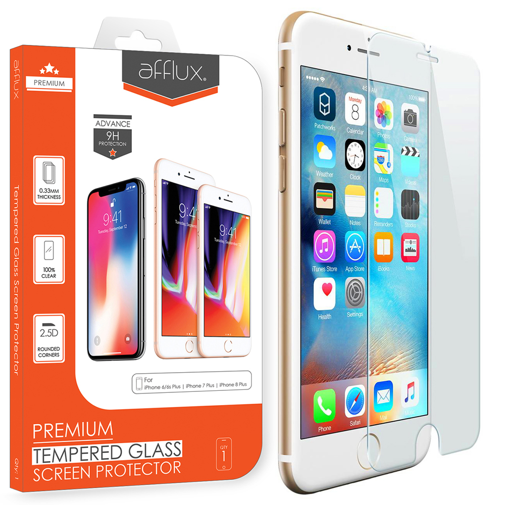 Afflux Apple iPhone 6 Plus Tempered Glass Screen Protector Film Guard Case Friendly For iPhone 6 Plus