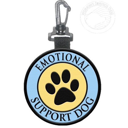 """EMOTIONAL SUPPORT DOG"" Identification Paw Print Patch Tag"